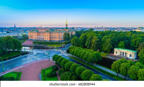 St. Petersburg. Engineers' Castle. St. Petersburg museum. Mikhailovsky Castle. Marble Palace.