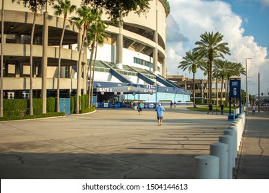 St Petersburg, Fl / US - 09 01 2019: Empty gate entrance and low attendance during a Tampa Bay Rays game at Tropicana Field in Downtown, St. Petersburg