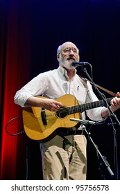 """ST. PETERSBURG, FLORIDA - FEBRUARY 18: Paul Stookey, best known as Paul in the folk trio """"Peter, Paul and Mary"""", sings at The Palladium on February 18, 2012 in St. Petersburg, Florida."""