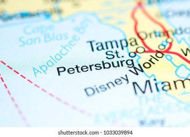 Map Of St Petersburg Florida.Eureka Usa On Map Stock Photo Edit Now 1033040347 Shutterstock