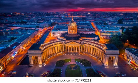 St. Petersburg. Kazan Cathedral. Panorama of Petersburg.