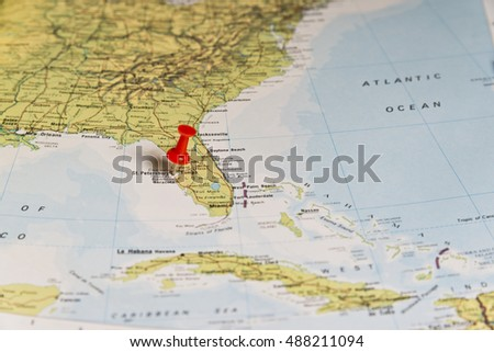 St Petersburg Marked On Map Red Stock Photo Edit Now 488211094