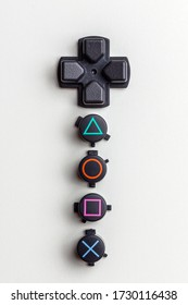 St Petersburg, Russia - 12 May 2020, playstation controller buttons