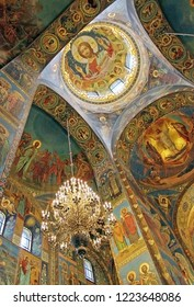 St. Petersburg, Russia - 14.09.2011: Interior of the Cathedral of the Resurrection of Christ on Blood or the Church of Our Savior on Blood