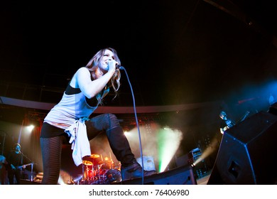 """ST. PETERSBURG, RUSSIA - APRIL 19: Group """"Guano Apes"""" in concert on April 19, 2011 in St Petersburg, Russia"""