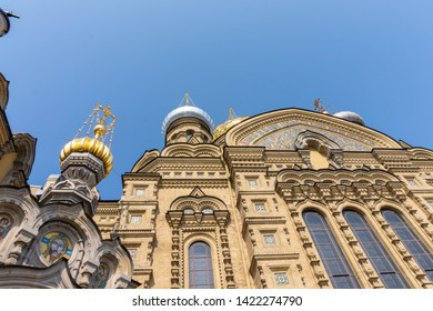 St. Petersburg, Russia - APRIL 26, 2019: view of the Church of the Assumption of the Blessed Virgin Marie