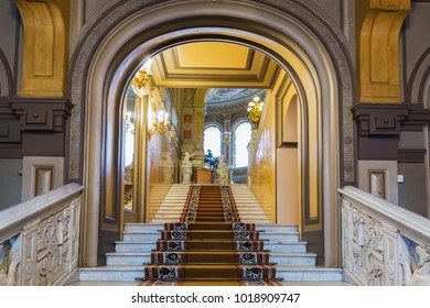 St. Petersburg, Russia - August 26, 2017: Interior of Vladimir Palace. It  was the last imperial palace to be constructed in Saint Petersburg, designed for Grand Duke Vladimir Alexandrovich of Russia