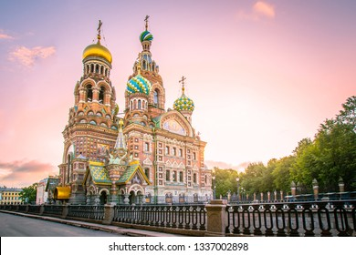 St. Petersburg. Russia. Cathedral of the Resurrection of Christ. Church of the Savior on Blood. Griboyedov Canal. Memorial monuments of St. Petersburg. Churches of Russia. Sights of Petersburg.