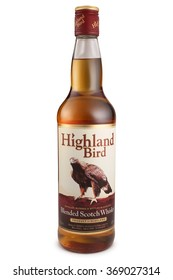 ST. PETERSBURG, RUSSIA - December 12, 2015: Bottle of Highland Bird, Blended Scotch Whisky, Scotland