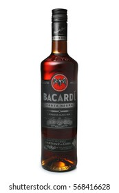 ST. PETERSBURG, RUSSIA - DECEMBER 25, 2016: Bottle of Bacardi Carta Negra Rum