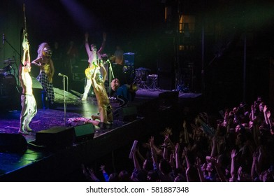 ST. PETERSBURG, RUSSIA - FEBRUARY 2, 2013: Concert of Bonaparte (band) at the club A2