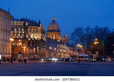 ST. PETERSBURG, RUSSIA - JANUARY 22, 2015:St. Isaac's Cathedral in Saint Petersburg, Russia