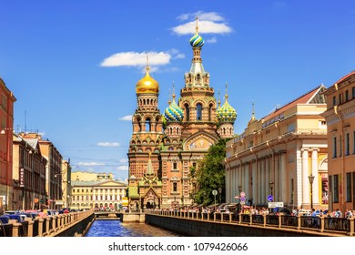 ST. PETERSBURG, RUSSIA - JULY 06, 2015: Church of savior on Spilled Blood in St. Petersburg, Russia