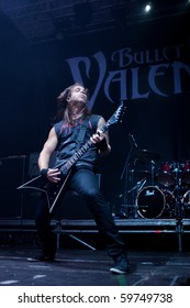 """ST. PETERSBURG, RUSSIA - JULY 14: GROUP """"BULLET FOR MY VALENTINE"""", St.-Petersburg On July 14, 2010 in St Petersburg, Russia"""