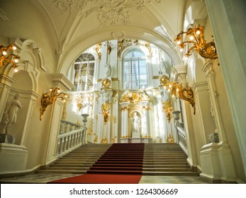 St. Petersburg / Russia - July 18 2016: Interior Hallway of Hermitage Museum