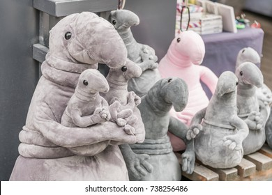 St. Petersburg, Russia, July 21, 2017: Soft toys Zhdun. Homunculus loxodontus