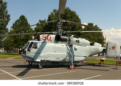 St. Petersburg, Russia July 5, 2013  Soviet military helicopter Ka-32 sea-launched