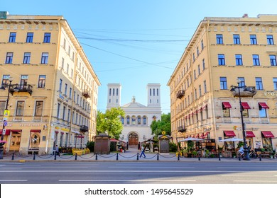 St. Petersburg, Russia - June 18, 2019: Evangelical Lutheran Church of Saints Peter and Paul on Nevsky Prospect
