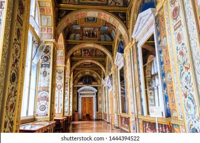 St. Petersburg, Russia - June 26, 2019: Raphael Loggias in the State Hermitage Museum in Saint Petersburg, Russia