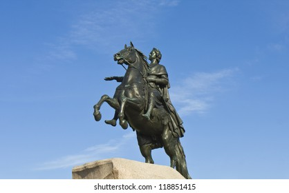 St. Petersburg, Russia,  monument to king Peter I Great.