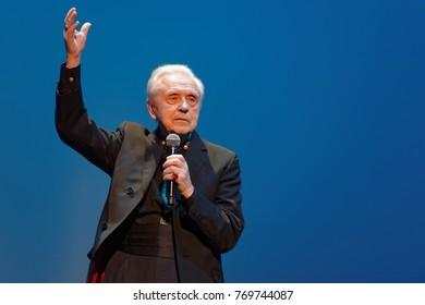 ST. PETERSBURG, RUSSIA - NOVEMBER 16, 2017: Choreographer Oleg Vinogradov during his anniversary gala concert. Great choreographer celebrated his 80th anniversary