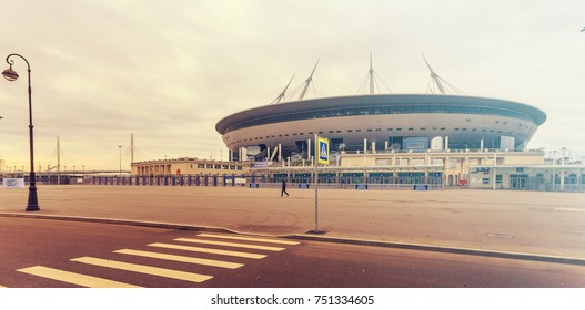 ST PETERSBURG, RUSSIA - NOVEMBER 2, 2017: St Petersburg Arena