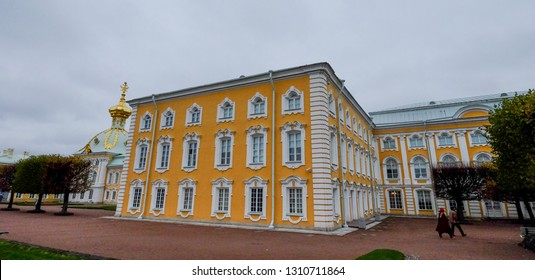 St. Petersburg, Russia - Oct 8, 2016. Peterhof (Petrodvorets) in St. Petersburg, Russia. Until the Revolution of 1917, Peterhof was the residence of the Tsars.