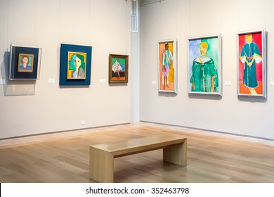 ST. PETERSBURG, RUSSIA - OCTOBER 01, 2015: Hall with Impressionist paintings Henri Matisse at the Museum of the General Staff (branch of the State Hermitage - one of the largest museums  in the world)