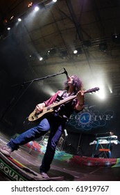 "ST. PETERSBURG, RUSSIA - SEPTEMBER 11: Group ""NEGATIVE"" in concert on September 11, 2010 in St Petersburg, Russia"