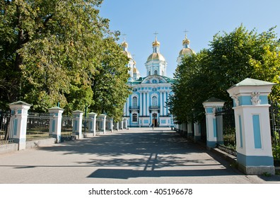 ST. PETERSBURG, RUSSIA - SEPTEMBER 12, 2015: St. Nicholas Naval Cathedral
