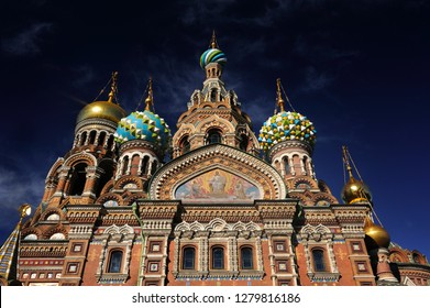 ST. PETERSBURG, RUSSIA - September 13, 2016: Church of the Savior on Spilled Blood (Cathedral of the Resurrection of Christ). One of the main tourist attractions in Saint Petersburg.