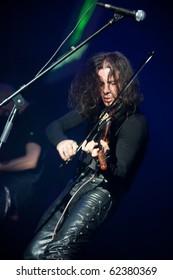 "ST. PETERSBURG, RUSSIA - SEPTEMBER 19: Group ""DOMINIA"" in concert on September 19, 2010 in St Petersburg, Russia"