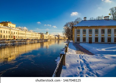St. Petersburg. Russia. Summer Palace of Peter the great in a winter day. Museum residence of Peter the Great on the Fontanka river.