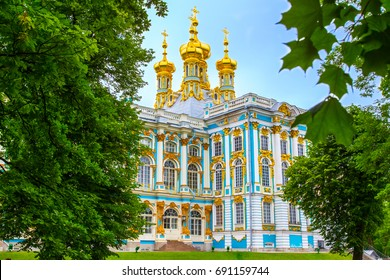 St. Petersburg. Tsarskoye Selo. City Pushkin. Catherine Palace Museum.