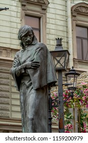 St. Petersburg-August 18, 2018: a monument to the Russian writer Gogol