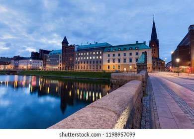 St Petri Cathedral in Malmo. Malmo, Scania, Sweden.