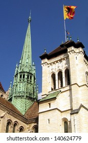 The St. Pierre Cathedral in Geneva, Switzerland.