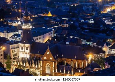 St. Quentin Cathedral in Hasselt. Hasselt, Flemish Region, Belgium.
