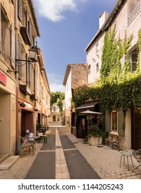 St Remy de Provence, Buches du Rhone, France, 29,06,2018Street in historic city center of St Remy de Provence.