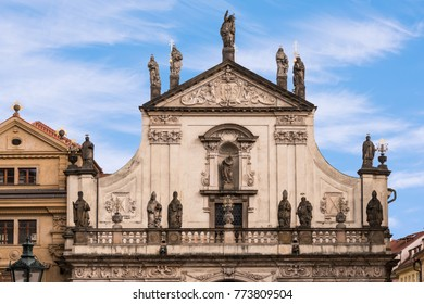 St. Salvator Church is one of two churches in the Klementinum, in Old Town, Prague, Czech Republic.