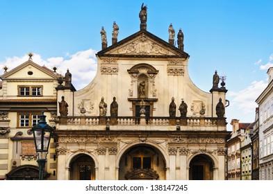 St. Salvator Church. Part Of Historic Complex In Prague - Clementinum, Czech Republic