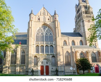 St. Salvator's Cathedral in historical centre town of Bruges, Belgium.