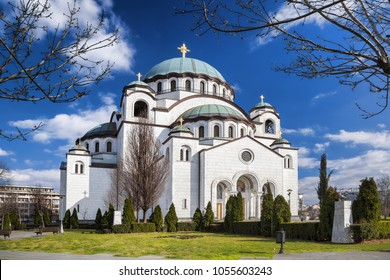 St. Sava Cathedral during spring time in Belgrade, Capital city of Serbia