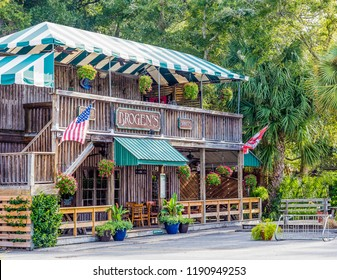 ST. SIMONS, GEORGIA - October 19, 2014: Brogens began on St Simons 30 years ago in a former souvenir shop. It is now a mainstay with three locations and a loyal following.