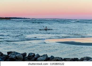 ST. SIMONS, GEORGIA - October 4, 2014: St Simons Island, Georgia is a favorite destination for water sports
