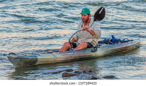 ST. SIMONS, GEORGIA - October 4, 2014: St Simons Island, Georgia is a favorite destination for water sportsis a favorite destination for water sports