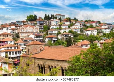 St. Sofia church in Ohrid in a beautiful summer day, Republic of Macedonia