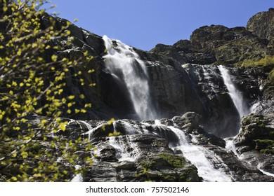 St. Sophia waterfall. Arkhyz. Karachay-Cherkess Republic.