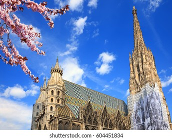 St. Stephan cathedral in Vienna at summertime