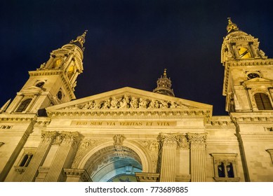 St. Stephens Basilica, Budapest, Hungary, night photo